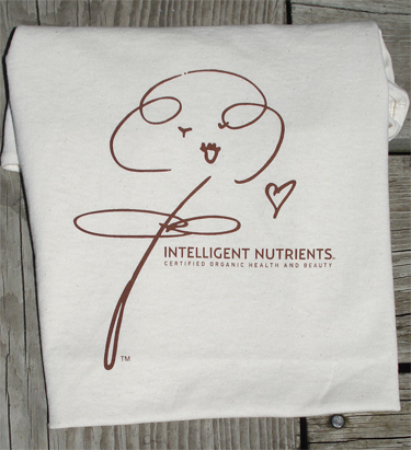 Intelligent Nutrients t-shirts, organic cotton, printed eco friendly