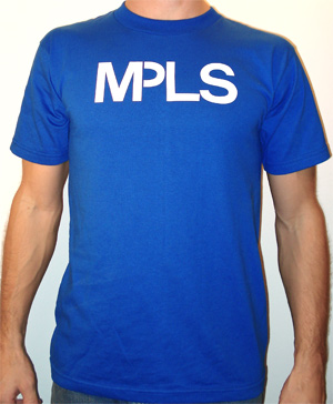 the original Minneapolis MPLS t-shirt royal blue